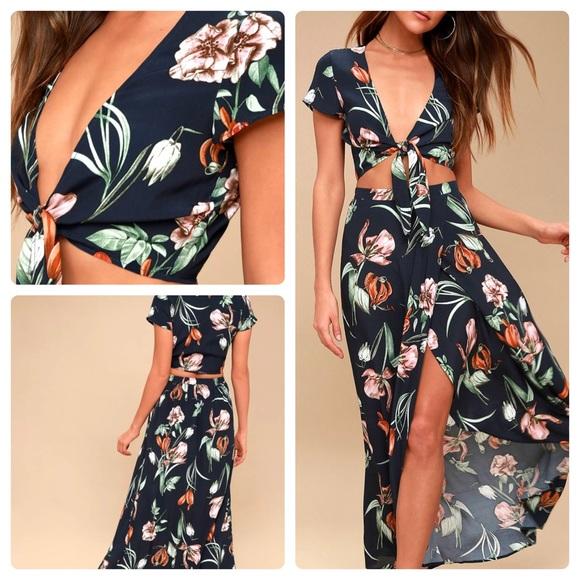 79c78b120c3 Lulu's Dresses & Skirts - Lulus MAGDALENA FLORAL PRINT TWO-PIECE MAXI DRESS